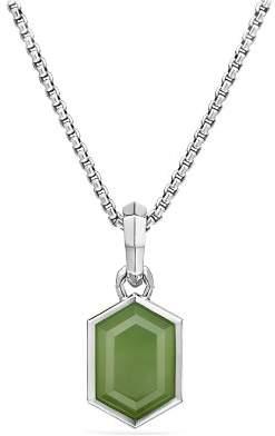 David Yurman Hexagon Cut Amulet with Nephrite Jade