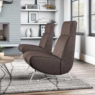 EQ3 Mollie Slipper Chair EQ3 Body Fabric: Houndstooth Jay