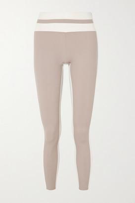 Vaara Flo Tuxedo Two-tone Stretch Leggings - Bronze