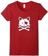 Women's Pirate Cat T-Shirt Large