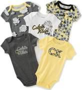 Calvin Klein Baby Girls' 5 Pack Assorted Bodysuits