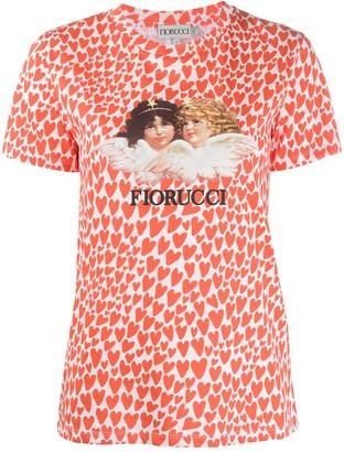 Fiorucci Angels Heart print T-shirt