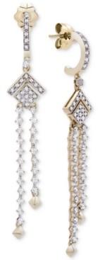 Wrapped in Love Diamond (1/2 ct. t.w.) Geometric Chandelier Earrings in 14k Gold, Created for Macy's