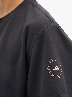 adidas by Stella McCartney Logo-print Organic Cotton-blend T-shirt - Black