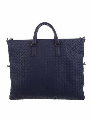 Bottega Veneta Intrecciato Leather Tote Indigo