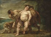 Canvas Art USA Drunken Bacchus with Faun and Satyr by Peter Paul Rubens - Premium Canvas Print