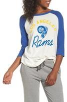 Junk Food Clothing Women's Nfl Los Angeles Rams Raglan Tee