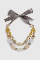 Wallis Yellow Marble Bead Tie Necklace