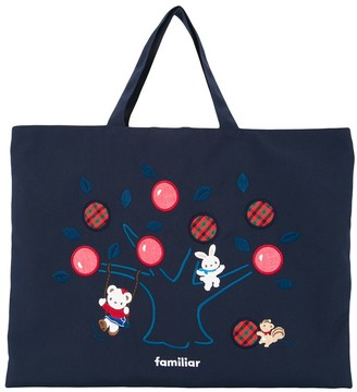 Familiar Lia embroidered tote bag