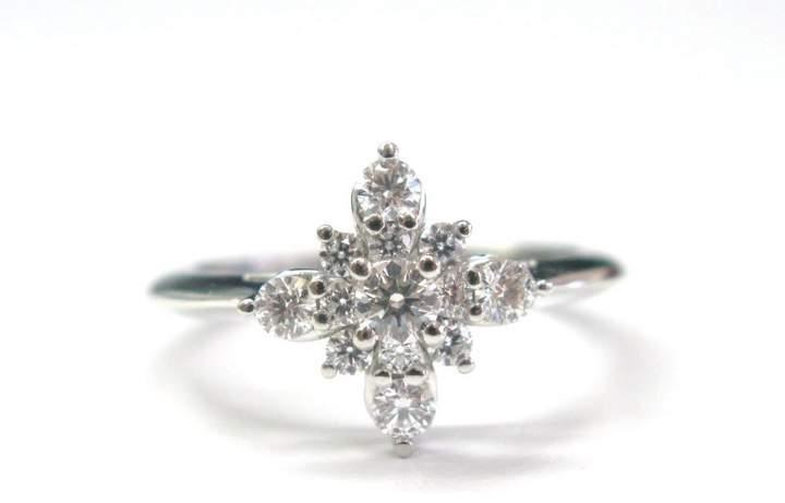 Tiffany & Co. Platinum Starburst Diamond Ring