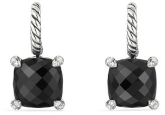 David Yurman Chatelaine Drop Earrings with Gemstone & Diamonds