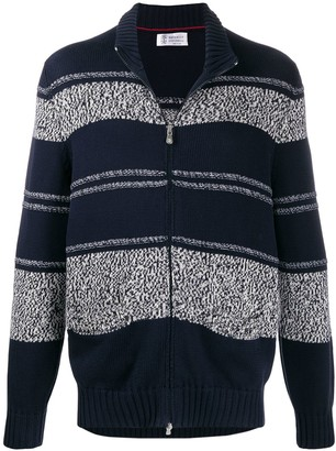 Brunello Cucinelli Striped Pattern Cardigan