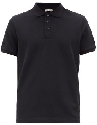 Moncler Logo-applique Cotton-pique Polo Shirt - Navy