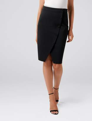 Ever New Leanda Button Through Pencil Skirt