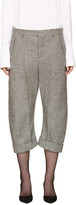DSQUARED2 Grey Cropped Tweed Kawaii Trousers