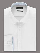 Autograph Supima® Cotton Slim Fit Basket Weave Shirt