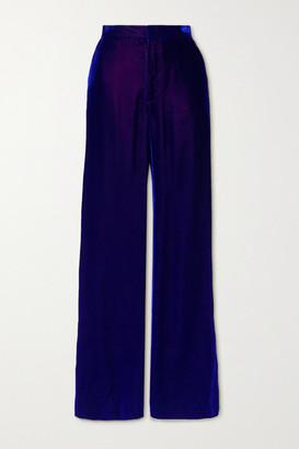 Christopher John Rogers Iridescent Velvet Pants - Purple