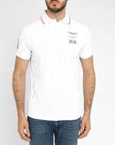 Hackett White Aston Martin Panel Polo Shirt