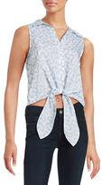 MICHAEL Michael Kors Sleeveless Tie-Waist Shirt