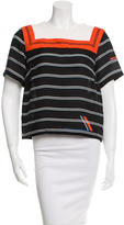 Preen Silk Striped Top w/ Tags