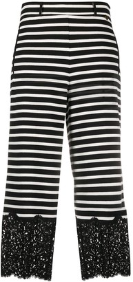 Twin-Set Striped Wide-Leg Trousers