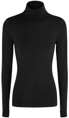 Wolford Black Roll-neck Jersey Top