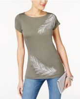 INC International Concepts Studded Butterfly-Graphic T-Shirt, Created for Macys