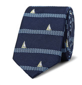 Thom Browne 5.5cm Sailboat-Patterned Silk-Jacquard Tie