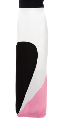 Roksanda Ilincic Colorblock Crepe Maxi Skirt L