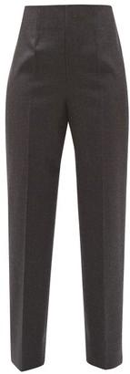 Maison Margiela Tailored Wool Tapered-leg Trousers - Dark Grey