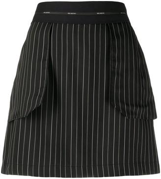Neil Barrett Striped Mini Skirt