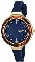 RumbaTime Orchard Tortoise Blue Analog Display Japanese Quartz Blue Watch
