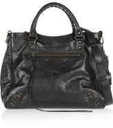 Balenciaga Classic Velo Textured-leather Shoulder Bag