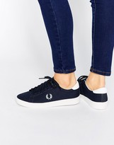 Fred Perry Spencer Navy Canvas Sneakers