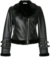 GUILD PRIME cropped faux fur lined jacket