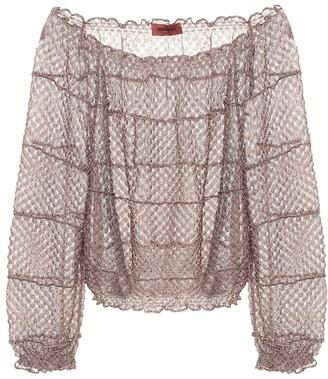 Missoni Off-shoulder knit blouse