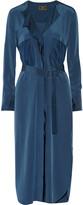 By Malene Birger Issla belted silk crepe de chine dress