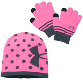 Under Armour Girls' Beanie Hat and Gloves Combo Pack