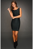 French Connection Ribbon Knit Boatneck Dress (Night Owl) - Apparel