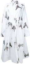 Natasha Zinko abstract print shirt dress - women - Cotton/Polyester - 38