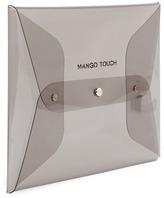 MANGO Vinyl envelop cosmetic bag