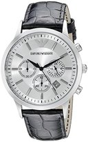 Emporio Armani Men's AR2432 Dress Black Leather Watch