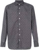 Lardini long-sleeved patterned shirt - men - Cotton - 39