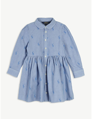 Ralph Lauren Embroidered logo cotton shirt dress 2-6 years