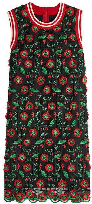 Anna Sui Embroidered Shift Dress