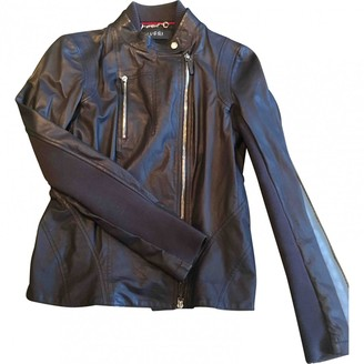 Gucci Navy Leather Jackets