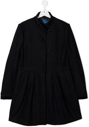 Fay Kids Long Sleeve Wool Coat