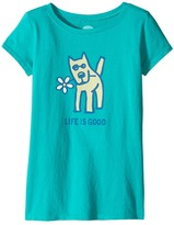 Life is Good Rocket Daisy Crusher Tee Girl's T Shirt