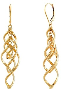 Bloomingdale's Twisted Dangle Drop Earrings in 14K Yellow Gold - 100% Exclusive