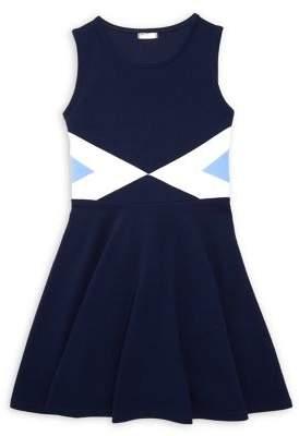 Sally Miller Girl's Sleeveless Fit-&-Flare Dress
